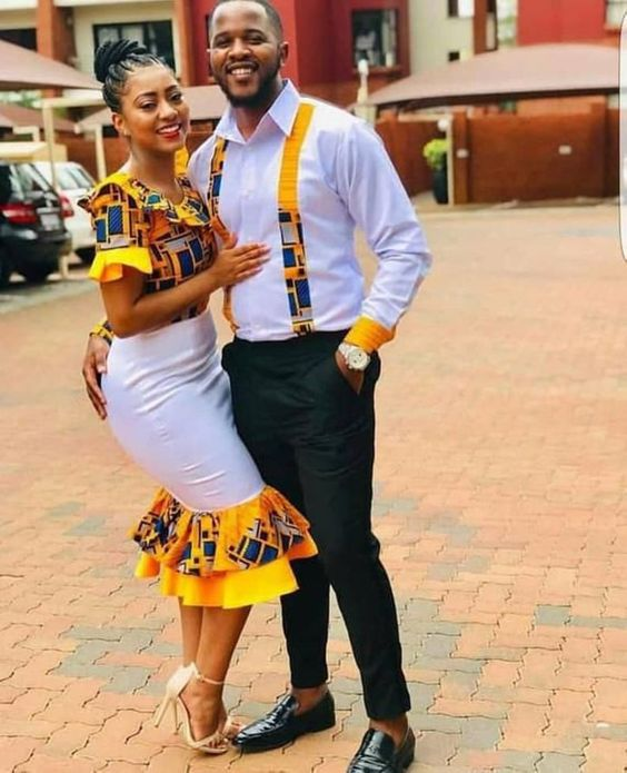 40 Plain and pattern Ankara styles for couples | Stylish Gwin Africa